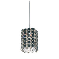 Schonbek Refrax 1 Light Pendant in Stainless Steel and Jaguar Swarovski Elements Trim RE0405JAG