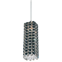 Schonbek Refrax 1 Light Pendant in Stainless Steel and Jaguar Swarovski Elements Trim RE0409JAG