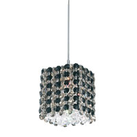 Schonbek Refrax 1 Light Pendant in Stainless Steel and Jaguar Swarovski Elements Trim RE0505JAG