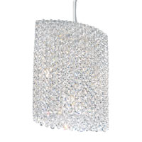 Schonbek Refrax 6 Light Pendant in Stainless Steel and Clear Spectra Crystal Trim RE1012A