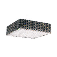 Schonbek Refrax 13 Light Pendant in Stainless Steel and Jaguar Swarovski Elements Trim RE1705JAG
