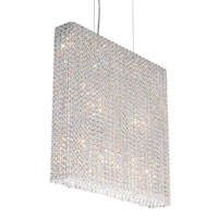Schonbek Refrax 11 Light Pendant in Stainless Steel and Crystal Swarovski Elements Trim RE2524S