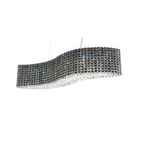 Schonbek Refrax 13 Light Pendant in Stainless Steel and Jaguar Swarovski Elements Trim RE3214JAG