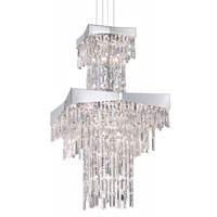 Riviera 24 Light 24 inch Stainless Steel Foyer Pendant Ceiling Light in Clear Spectra
