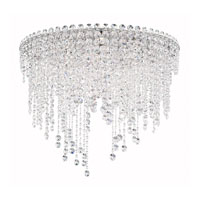 Chantant 6 Light 24 inch Stainless Steel Flush Mount Ceiling Light in Clear Spectra, Strand