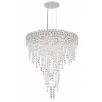 Schonbek CH2412N-401A Chantant 6 Light 24 inch Stainless Steel Pendant Ceiling Light in Clear Spectra, Strand photo thumbnail