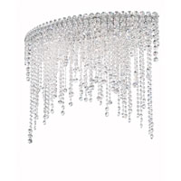 Chantant 6 Light 15 inch Stainless Steel Flush Mount Ceiling Light in Clear Spectra, Strand