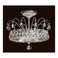 Fontana Luce 3 Light 14 inch Black Pearl Semi Flush Mount Ceiling Light