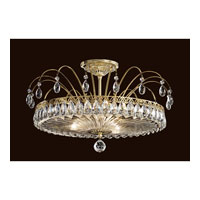 Fontana Luce 3 Light 19 inch Silver Semi Flush Mount Ceiling Light in Polished Silver