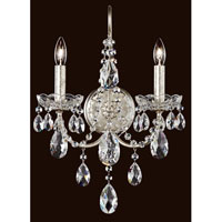 Sonatina 2 Light 6 inch Black Pearl Wall Sconce Wall Light in Clear Swarovski