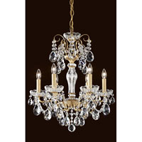 Sonatina 6 Light 18 inch Etruscan Gold Chandelier Ceiling Light in Clear Heritage