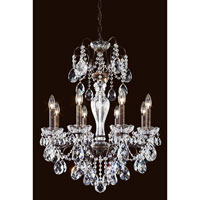 Schonbek Sonatina 8 Light Chandelier in Antique Silver ST1944N-48S
