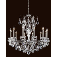 Sonatina 12 Light 34 inch Silver Chandelier Ceiling Light in Clear Heritage