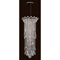 Trilliane Strands 4 Light 17 inch Stainless Steel Pendant Ceiling Light in Clear Spectra