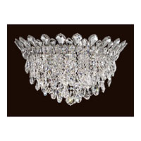 Trilliane Strands 6 Light Stainless Steel Flush Mount Ceiling Light in Clear Spectra