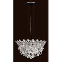 Trilliane Strands 6 Light 24 inch Stainless Steel Pendant Ceiling Light in Clear Spectra
