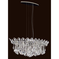 Trilliane Strands 6 Light 19 inch Stainless Steel Pendant Ceiling Light in Clear Spectra