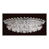 Schonbek TR4801N-401A Trilliane Strands 8 Light 25 inch Stainless Steel Flush Mount Ceiling Light in Clear Spectra