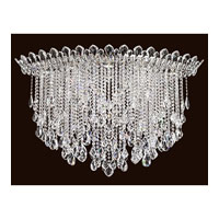 Trilliane Strands 8 Light 25 inch Stainless Steel Flush Mount Ceiling Light in Clear Spectra