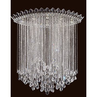 Schonbek TR4803N-401A Trilliane Strands 8 Light 25 inch Stainless Steel Flush Mount Ceiling Light in Clear Spectra