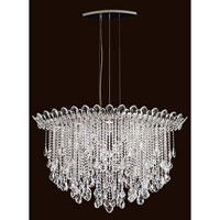 Schonbek TR4812N-401A Trilliane Strands 8 Light 25 inch Stainless Steel Pendant Ceiling Light in Clear Spectra
