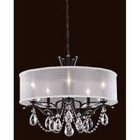 Schonbek Vesca 5 Light Chandelier in Ferro Black VA8305N-59A