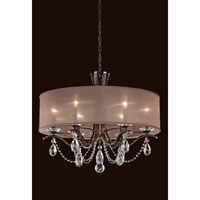 Schonbek Vesca 6 Light Chandelier in Antique Silver VA8306N-48A
