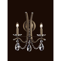 Vesca 2 Light 9 inch Ferro Black Wall Sconce Wall Light in Clear Swarovski