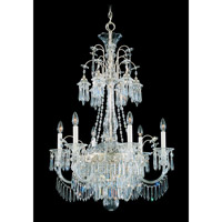 Schonbek Kirov 9 Light Chandelier in Antique Silver and Clear Heritage Trim 7174-48 photo thumbnail