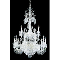 Schonbek Kirov 20 Light Chandelier in Antique Silver and Clear Heritage Trim 7178-48 photo thumbnail