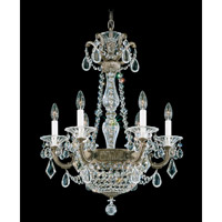 La Scala Empire 8 Light 21 inch Parchment Bronze Chandelier Ceiling Light in Clear Heritage
