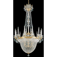 Schonbek La Scala Empire 22 Light Chandelier in Heirloom Gold and Clear Heritage Handcut Trim 5082-22