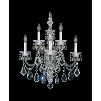 Schonbek La Scala 5 Light Wall Sconce in Antique Pewter and Handcut Crystal 5003-47