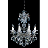 Schonbek La Scala 8 Light Pendant in Black Pearl and Handcut Crystal 5007-49