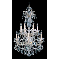 La Scala 12 Light 25 inch Antique Silver Chandelier Ceiling Light in Clear Heritage