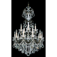 Schonbek La Scala 15 Light Chandelier in Bronze Umber and Clear Heritage Handcut Trim 5010-75