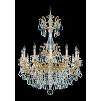 Schonbek La Scala 12 Light Chandelier in Heirloom Gold and Clear Heritage Handcut Trim 5011-22