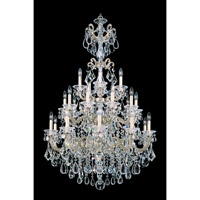 Schonbek La Scala 25 Light Chandelier in Heirloom Silver and Clear Heritage Handcut Trim 5012-44 photo thumbnail