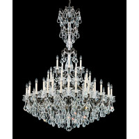 Schonbek La Scala 45 Light Chandelier in Heirloom Bronze and Clear Heritage Handcut Trim 5016-76