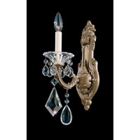 Schonbek La Scala 1 Light Wall Sconce in Parchment Bronze and Clear Heritage Handcut Trim 5069-74