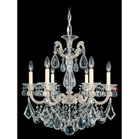 La Scala 6 Light 23 inch Antique Silver Chandelier Ceiling Light in Clear Heritage