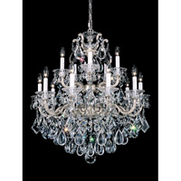 La Scala 15 Light 28 inch Antique Silver Chandelier Ceiling Light in Clear Heritage