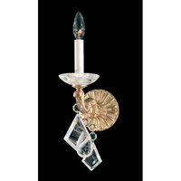 Schonbek La Scala Rock Crystal 1 Light Wall Sconce in Parchment Gold and Clear Rock Crystal Trim 5400-27