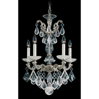 Schonbek La Scala Rock Crystal 5 Light Chandelier in Antique Silver and Clear Rock Crystal Trim 5405-48 photo thumbnail
