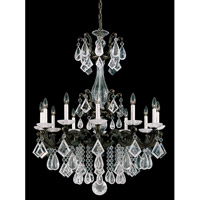 Schonbek La Scala Rock Crystal 12 Light Chandelier in Bronze Umber and Clear Rock Crystal Trim 5411-75