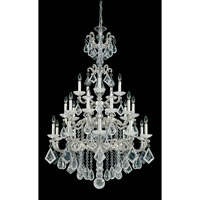 Schonbek La Scala Rock Crystal 25 Light Chandelier in Antique Silver and Clear Rock Crystal Trim 5412-48