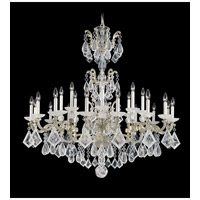 Schonbek La Scala Rock Crystal 24 Light Chandelier in Heirloom Silver 5413-44