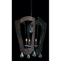 Linterna 4 Light 19 inch Heirloom Bronze Pendant Ceiling Light in Clear Swarovski Elements