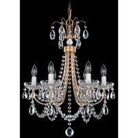 Schonbek Lucia 6 Light Chandelier in French Gold and Clear Heritage Handcut Trim LU0001N-26H