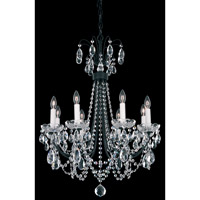 Lucia 8 Light 22 inch Ferro Black Chandelier Ceiling Light